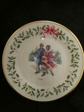 Lenox Annual Holiday Christmas Plate 1998 Holiday Skaters