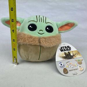 "SQUISHMALLOWS Plush Stuffed Toy Baby Yoda The Child 5"" Kellytoy Star Wars"