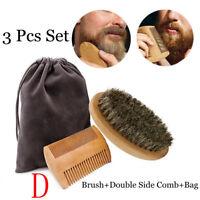 Mustache Care Beard Comb Kit Beard Grooming Boar Bristle Brush Facial Shaving