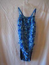Speedo Pro LT Blue Harmony Junior Size One Piece Swim/Bathing Suit Sz 6/32 NWWT
