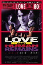 LOVE AND HUMAN REMAINS Movie POSTER 27x40 Thomas Gibson Ruth Marshall Cameron