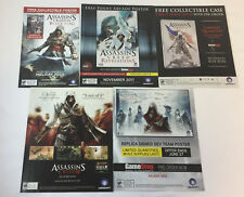 five ASSASSIN'S CREED video game ads