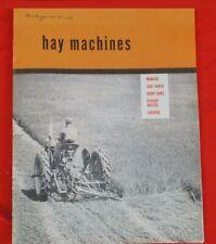 Ih Farmall Mccormick Hay Machines Sickle Mowers Sales Brochure Cub Super A C H M