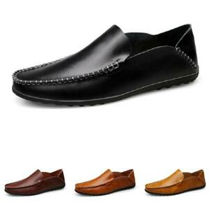 Mens Pumps Slip on Loafers Shoes Driving Moccasins Breathable Soft Comfy Flats B
