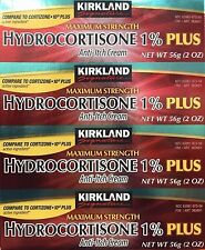 Kirkland Signature Hydrocortisone Cream 1% Plus 2oz - 4Tubes