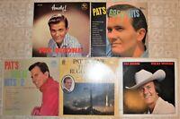 Pat Boone, 5 Vinyl Record Lot, All LP & 2 US 1st Press, Trad Pop Country Gospel