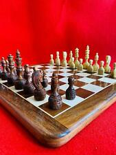 """Wood Non Magnetic Premium Handcrafted 16""""X16"""" Inche Best Professional Flat Chess"""