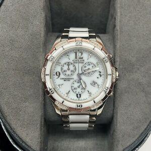 Citizen Eco Drive Diamond Ceramic Women's Watch Model H504-S079241