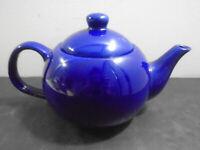"""VINTAGE DESIGNPAC COBALT BLUE TEA POT 4 7/8"""""""
