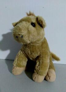 """Plush Animal Toy Lion 9"""" Tall Tan Black Eyes"""