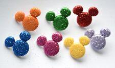 Glitter Mickey / Disney ~ Dress It Up / Mickey Mouse Glitter Shank Buttons