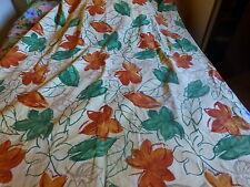 2m,36haut x1,39 large a pattes ,rideau portiére ,fenétre fond écru ,les feuilles