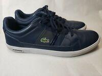 LACOSTE Europa Men's navy blue leather shoes size US 11.5 , EUR 45 , UK 10.5