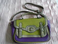 Gionni ladies green & purple handbag