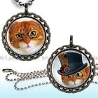 Fun Steampunk Cats Children's Bottle Cap Necklace & Chain Handcrafted Jewelry