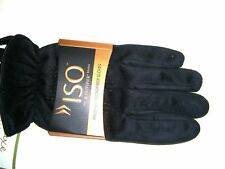 ISO by ISOTONER Microfiber Black Mens Winter Gloves Water Repellent Size L
