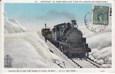 Carte Postale Pérou Train sur Berg