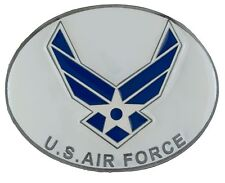 Colored Enamel Belt Buckle - Brand New! U.S. Air Force New Logo - 3D
