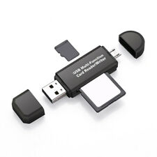 SD/Micro SD Card Reader Micro USB OTG to USB 2.0 Adapter with Standard USB