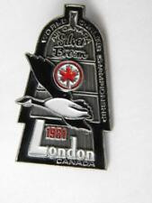 AIR CANADA AIRLINE CURLING WORLD CHAMPIONSHIP 1981 LONDON PIN VINTAGE BUTTON