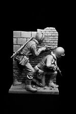120mm British Army Baton Gunner and Rifleman, sculpted by Maurice Corry