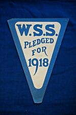 """WWI War Savings Stamps Paper Flag, """"W.S.S. Pledged for 1918"""""""