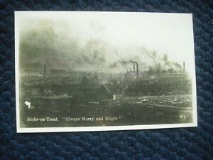 "POSTCARD STOKE-ON-TRENT ""ALWAYS MERRY & BRIGHT"", STAFFORDSHIRE"