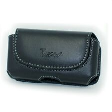 Horizontal Leather Case Belt Clip & Loops Pouch Holster 4.52 x 2.32 x 0.37 inch