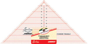 SEW EASY Quilting Ruller Tool Template Clear Acrylic 90 Degree Trangle Quilt