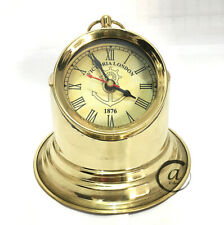 Vintage Time Piece Hour Watch Brass Clock Nautical Maritime Victoria Clock Des