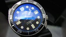 VINTAGE Seiko Divers 7002 Professional 300 quadrante nero vetro zaffiro blu K83