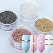 Nail Art Mini Beads Balls Pearls Tips Metal Gold Silver 3D Nails Decoration Tool