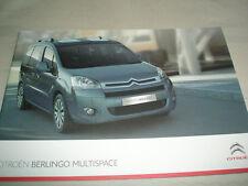 Citroen Berlingo Multispace range brochure Jun 2009