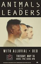 Animals As Leaders / Alluvial / Ded 2017 Memphis Concert Tour Poster- Prog Metal