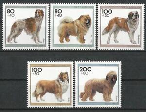 Germany 1996 MNH - Youth Welfare Dogs (II) Borzoi Chow-Chow St Bernard Collie