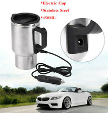 450ML Car Based Heating Stainless Steel Cup Kettle 12V Travel Coffee Heated Mug