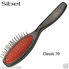 SIBEL Classic 70 OVALE Cuscino Borsetta Spazzola per capelli spille in metallo