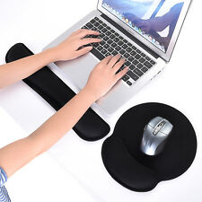 2in1 Keyboard Wrist Rest Pad+Mouse Wrist Rest Support Soft Memory Foam Ergonomic