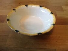 Alfred Meakin Art Deco 1 Fruit Bowl Cream with Black & Yellow Stripes 22cm