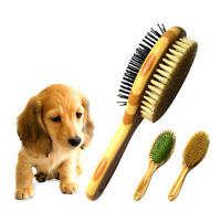 Pet Comb Professional Double Sided Pin Bristle Bamboo Brush Grooming ComQA
