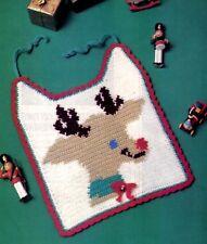 CUTE Rudolph Cristmas Baby Bib/Crochet Pattern INSTRUCTIONS ONLY
