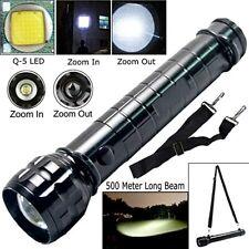 Lampe torche 300 mm à LED loupe tres puissante zoom faisceau 500 metres