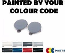 NUOVO BMW E70 E71 M Paraurti Posteriore Gancio di traino occhio COVERS KIT dipinto da il codice di colore