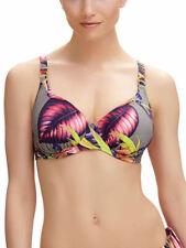 32E Fantasie Kuramathi Bikini Top 6116 Underwired Gathered Plunge Moulded