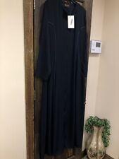 Abaya Islamic Dress Plus Size Fits XL - 2X Navy Blue Long Sleeves Maxi NEW w Tag