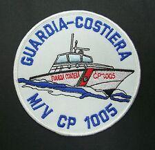 PATCH GUARDIA COSTIERA CP 1005 FREGIO TOPPA RICAMATA MARE NAVE SHIP COST GUARD