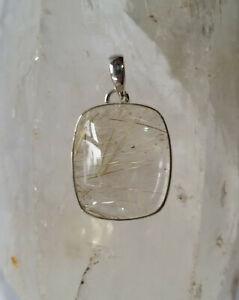 673 Rutilated Quartz Pendant Silver 925