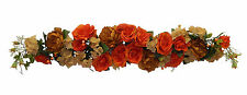 "Large 50"" Swag ~ Orange ~ Centerpieces Silk Wedding Flowers Arch Chuppah Fall"