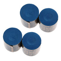 MagiDeal 4 Pieces Smooth Snooker Pool Cue Tip Chalk Billiard Accessory Blue