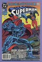 Superman The Man of Steel #23 1993 Newsstand Reign of Supermen Steel Superboy k